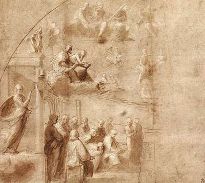 Raphael Study for the Disputa