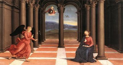 Raphael The Annunciation Oddi altar predella