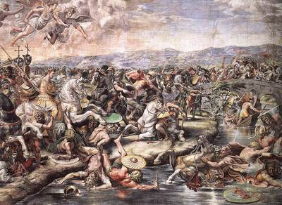 Raphael The Battle at Pons Milvius detail1