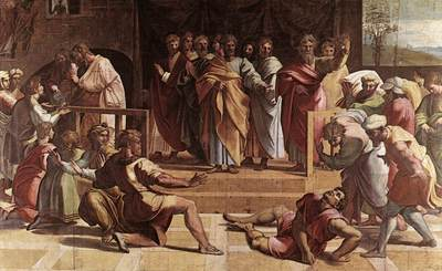 Raphael The Death of Ananias