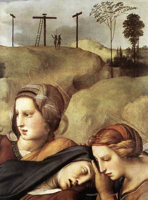 Raphael The Entombment detail