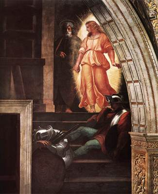 Raphael The Liberation of St Peter detail3