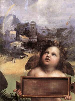 Raphael The Madonna of Foligno detail1