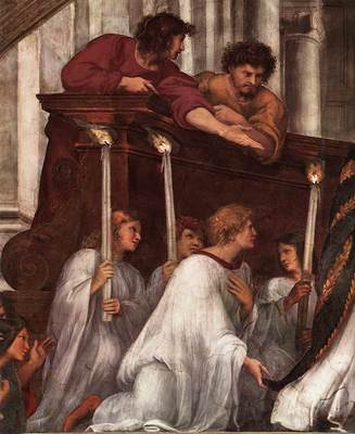 Raphael The Mass at Bolsena detail1