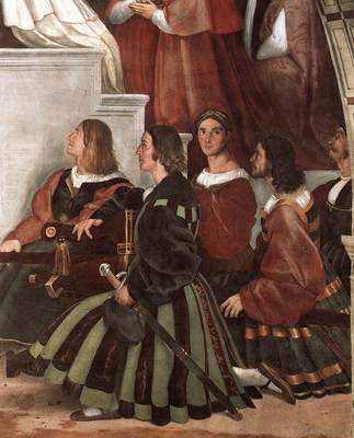 Raphael The Mass at Bolsena detail2