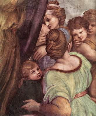 Raphael The Mass at Bolsena detail4