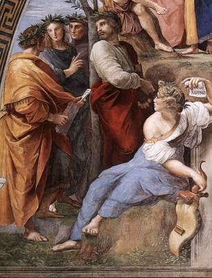Raphael The Parnassus detail10