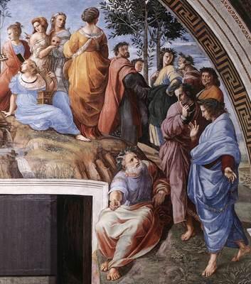 Raphael The Parnassus detail9