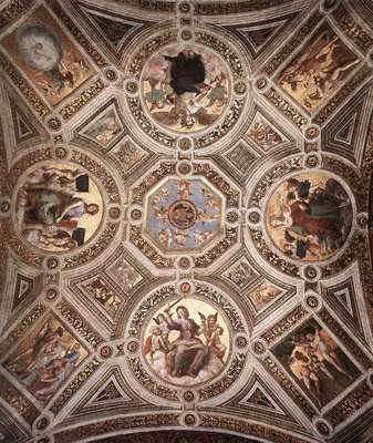 Raphael The Stanza della Segnatura Ceiling