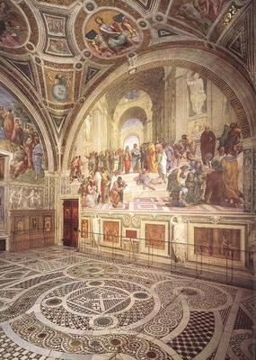 Raphael View of the Stanza della Segnatura
