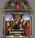 Raphael Madonna and Child Enthroned with Saints c1504