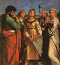 Raphael St Cecilia with Sts Paul John Evangelists Augustine and Mary Magdalene