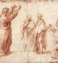 Raphael Study for St Paul Preaching in Athens