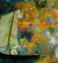 redon flower clouds