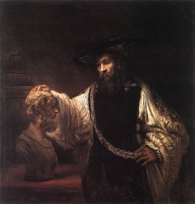 Rembrandt Aristotle with a Bust of Homer
