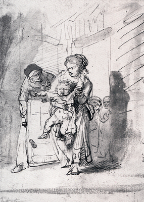 Rembrandt Child In A Tantrum