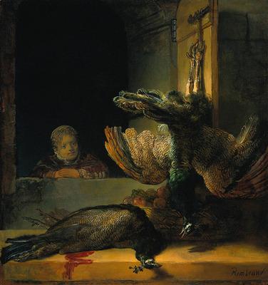 Rembrandt Dead peacocks