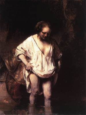 Rembrandt Hendrickje Bathing in a River