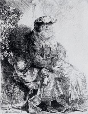 Rembrandt Jacob Caressing Benjamin