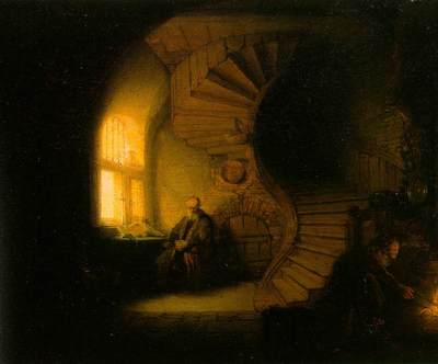 Rembrandt Philosopher in Meditation