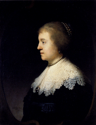 Rembrandt Portrait Of Amalia Van Solms