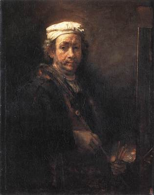 rembrandt portrait of the artist at his easel