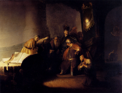 Rembrandt Repentant Judas Returning The Pieces Of Silver
