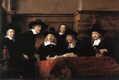 Rembrandt Sampling Officials of the Drapers Guild