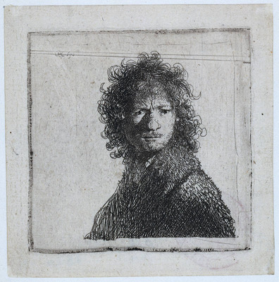 rembrandt self portrait frowning