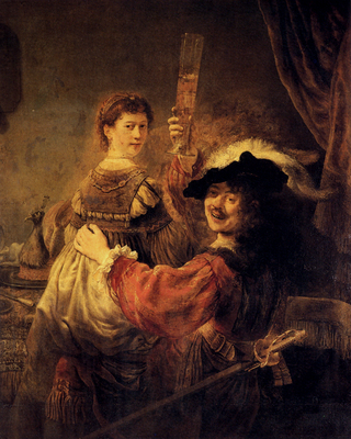 Rembrandt Self Portrait With Saskia