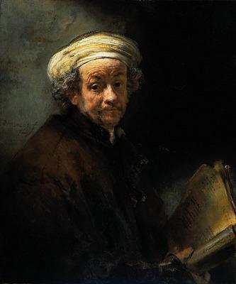 Rembrandt Self Portrait as the Apostle St Paul