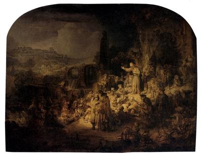 Rembrandt St John The Baptist Preaching