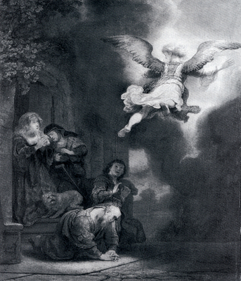 Rembrandt The Angel Leaving Tobias And His Family