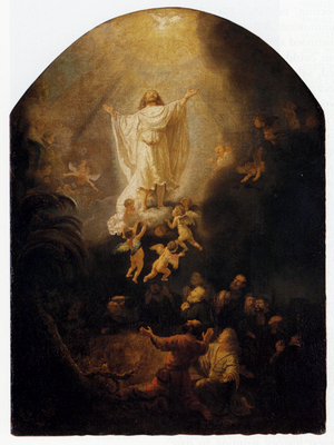 Rembrandt The Ascension Of Christ