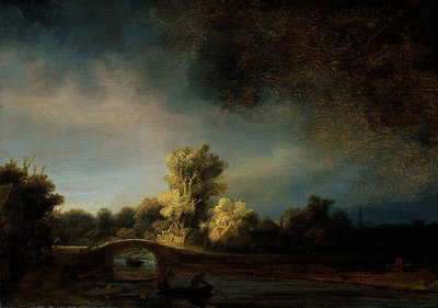 Rembrandt The Stone Bridge c1638