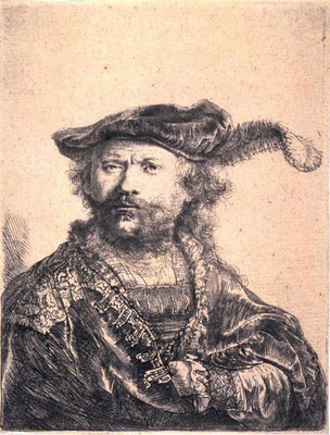 Rembrandt in Velvet Cap and Plume SIL