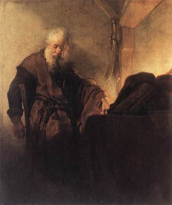 St Paul at his Writing Desk WGA