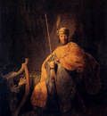 Rembrandt David Playing The Harp To Saul