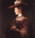Rembrandt Saskia in Pompous Dress