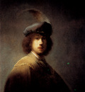 Rembrandt Self Portrait In A Plumed Hat
