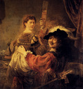 Rembrandt Self Portrait With Saskia