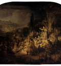Rembrandt St John The Baptist Preaching