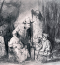 Rembrandt Studio Scene With Sitters