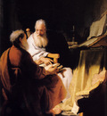 Rembrandt Two Old Men Disputing