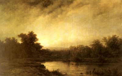 Haanen Remigius Adrianus Van A River Landscape