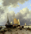 Haanen Remigius Adrianus Van Unloading The Catch