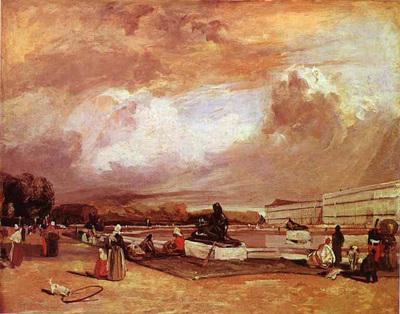 Bonington Richard Parkes Parlerre d eau a Versailles