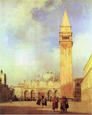Bonington Richard Parkes Piazza San Marco Venice
