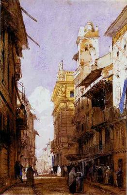 Bonington Richard Parkes The Corsa Saint Anastasia Verona with the Palace of Prince Maffet