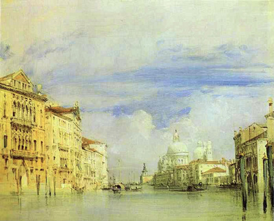 Bonington Richard Parkes Venice  The Grand Canal